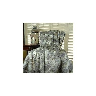 Plutus Brands Rabbit Faux Fur Acrylic Blanket; Queen