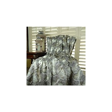 Plutus Brands Rabbit Faux Fur Acrylic Blanket; King