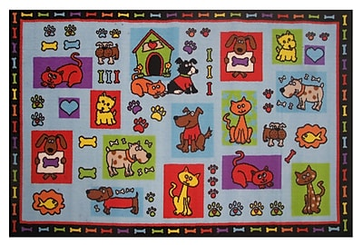 Fun Rugs Fun Time Pets R Us Area Rug; 3'3'' x 4'10''