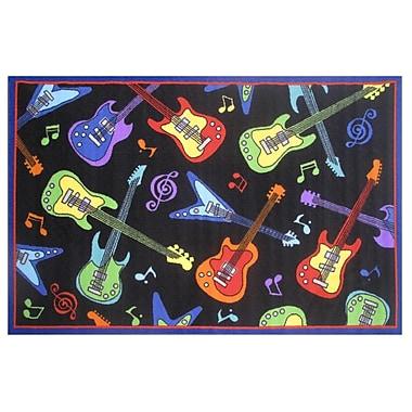 Fun Rugs Fun Time Guitars Black Area Rug; 3'3'' x 4'10''