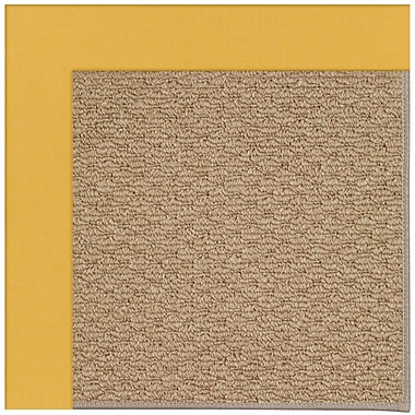 Capel Zoe Machine Tufted Yellow/Brown Indoor/Outdoor Area Rug; Rectangle 9' x 12'