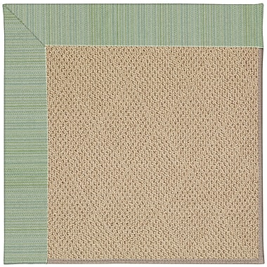 Capel Zoe Cane Wicker Machine Tufted Green Spa/Brown Indoor/Outdoor Area Rug; Rectangle 10' x 14'