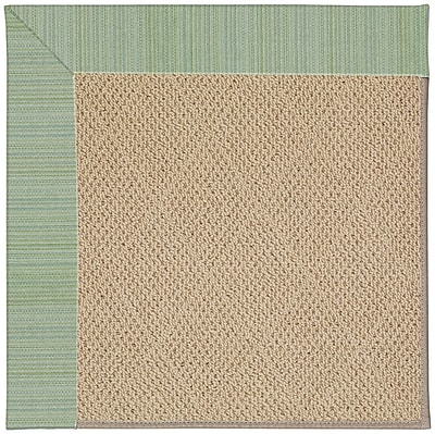Capel Zoe Cane Wicker Machine Tufted Green Spa/Brown Indoor/Outdoor Area Rug; Rectangle 7' x 9'
