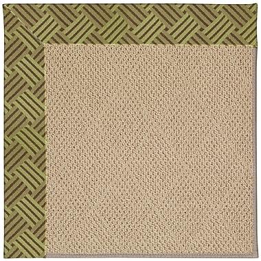 Capel Zoe Machine Tufted Mossy Green/Brown Indoor/Outdoor Area Rug; Rectangle 5' x 8'