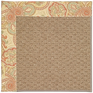 Capel Zoe Machine Tufted Auburn/Brown Indoor/Outdoor Area Rug; Rectangle 2' x 3'