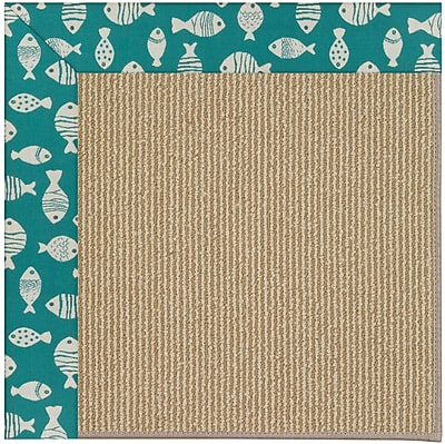 Capel Zoe Brown Indoor/Outdoor Area Rug; Rectangle 5' x 8'