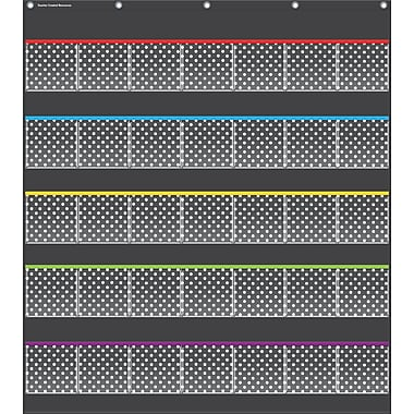 Teacher Created Resources, Black Polka Dots Storage Pocket Chart (TCR20750)