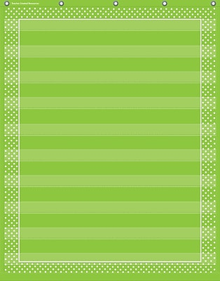 Teacher Created Resources Lime Polka Dots 10 Pocket Chart (TCR20745)