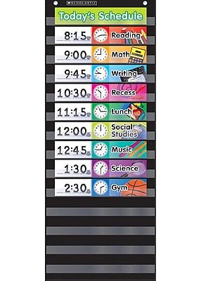 Scholastic Teaching, Pocket Chart Daily Schedule, Black (SC-583865)
