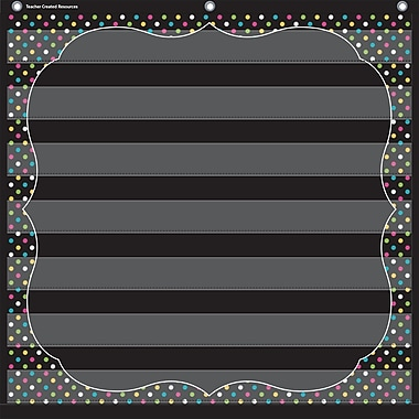 Teacher Created Resources, Chalkboard Brights 7 Pocket Chart (TCR20742)