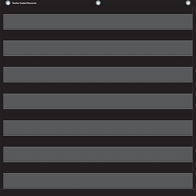 Teacher Created Resources, Black 7 Pocket Chart (TCR20740)