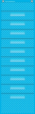 Teacher Created Resources, Aqua Polka Dot 10 Pocket File Storage Pocket (TCR20738)