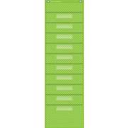 Teacher Created Resources, Lime Polka Dot 10 Pocket File Storage Pocket (TCR20737)