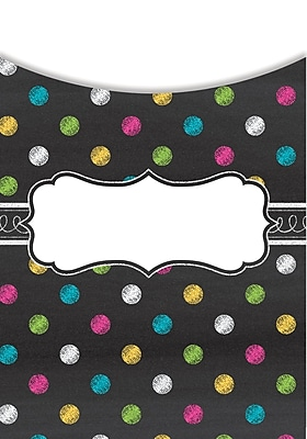 Teacher Created Resources Chalkboard Brights Library Pockets, Pack of 35 (TCR5657)