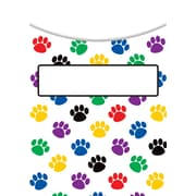 Teacher Created Resources Paw Print Library Pockets, 35/Pack (TCR5550)