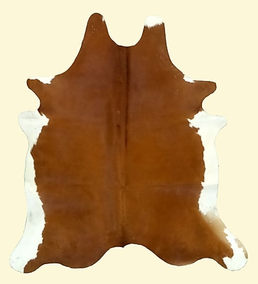 T. Style Dark Caramel and White Area Rug; 7'2'' x 7'6''