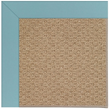 Capel Zoe Machine Tufted Bright Blue/Brown Indoor/Outdoor Area Rug; Rectangle 8' x 10'