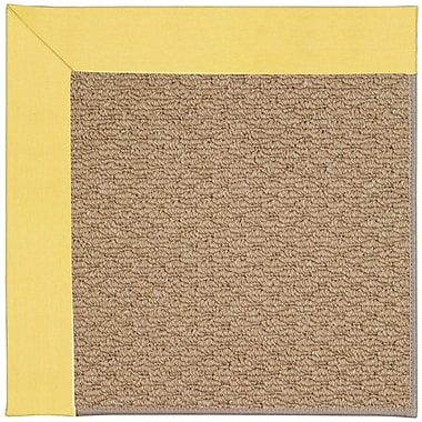 Capel Zoe Machine Tufted Yellow/Brown Indoor/Outdoor Area Rug; Square 4'