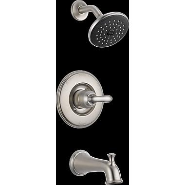 Delta Linden Monitor 7'' x 7'' Tub or Shower Trim; Brilliance Stainless