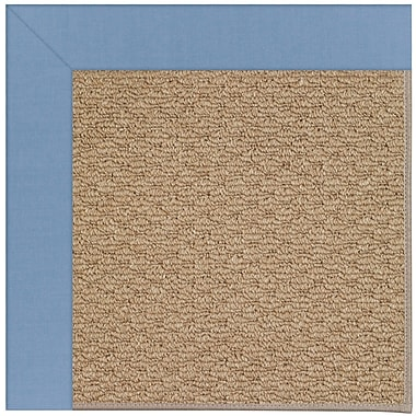 Capel Zoe Machine Tufted Blue/Brown Indoor/Outdoor Area Rug; Square 10'