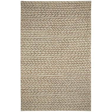 Capel Genevieve Gorder Hand-Tufted Beige/Chestnut Area Rug; Runner 2'6'' x 8'