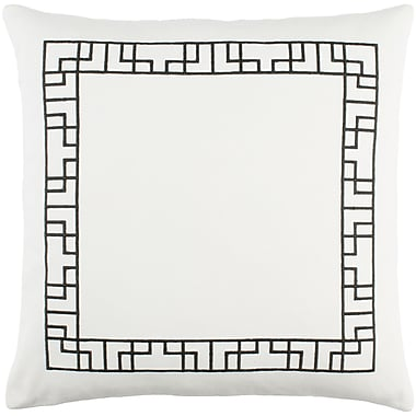 Artistic Weavers Kingdom Rachel Cotton Throw Pillow; White/ Black