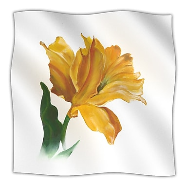 KESS InHouse Yellow Tulip Throw Blanket; 40'' L x 30'' W