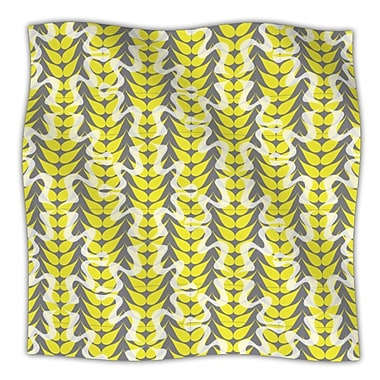 KESS InHouse Whirling Leaves Throw Blanket; 80'' L x 60'' W