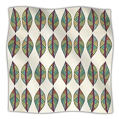 KESS InHouse Tribal Leaves Throw Blanket; 80'' L x 60'' W