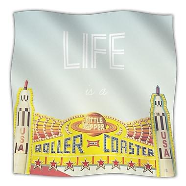 KESS InHouse Life Is A Rollercoaster Throw Blanket; 80'' L x 60'' W