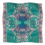 KESS InHouse Ashby Blossom Teal Throw Blanket; 80'' L x 60'' W