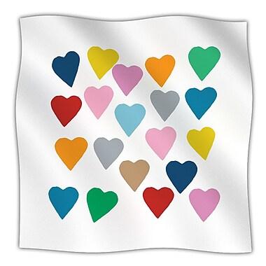 KESS InHouse Colorful Hearts Throw Blanket; 60'' L x 50'' W