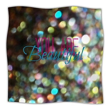 KESS InHouse You Are Beautiful Throw Blanket; 60'' L x 50'' W