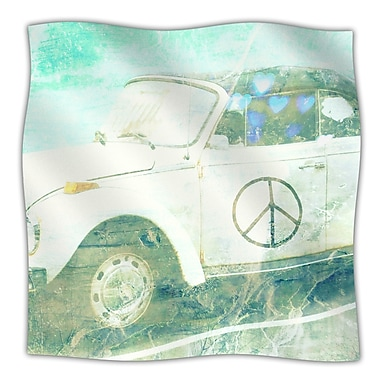 KESS InHouse Love Bug Throw Blanket; 60'' L x 50'' W