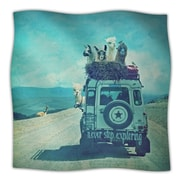 KESS InHouse Never Stop Exploring III Throw Blanket; 80'' L x 60'' W