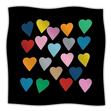 KESS InHouse Hearts Throw Blanket; 60'' L x 50'' W