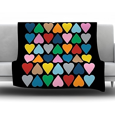 KESS InHouse Up and Down Hearts by Project M Fleece Throw Blanket; 40'' H x 30'' W x 1'' D