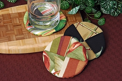 Pacific Table Linens Outdoor Wine Glass Coaster (Set of 2); Makeba Terracotta