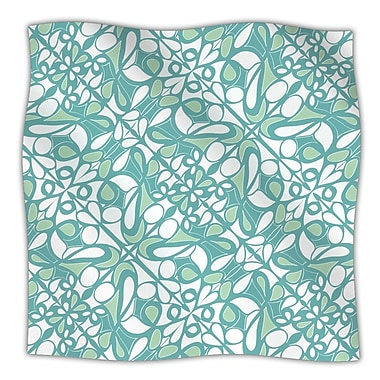 KESS InHouse Swirling Tiles Teal Throw Blanket; 80'' L x 60'' W