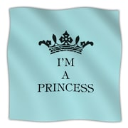 KESS InHouse Im A Princess Throw Blanket; 80'' L x 60'' W