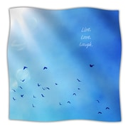 KESS InHouse Live Laugh Love Throw Blanket; 80'' L x 60'' W