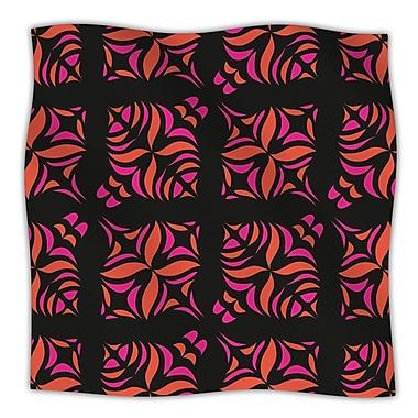 KESS InHouse Orange on Black Throw Blanket; 60'' L x 50'' W