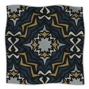 KESS InHouse Winter Fractals Throw Blanket; 80'' L x 60'' W