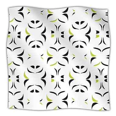 KESS InHouse Retro Green Snow Storm Throw Blanket; 80'' L x 60'' W