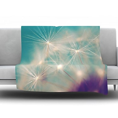 KESS InHouse Dandelion Seedhead by Sylvia Cook Fleece Throw Blanket; 40'' H x 30'' W x 1'' D