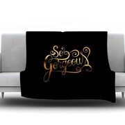 KESS InHouse So Gorgeous by Roberlan Fleece Throw Blanket; 80'' H x 60'' W x 1'' D