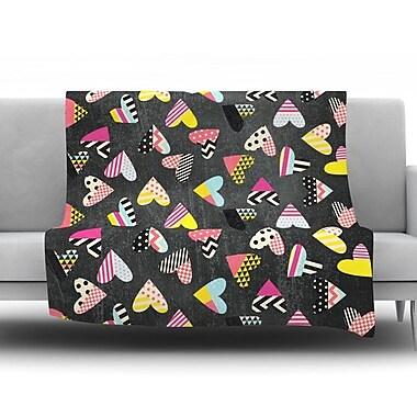 KESS InHouse Pieces of Heart by Louise Machado Fleece Throw Blanket; 60'' H x 50'' W x 1'' D