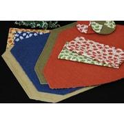 Pacific Table Linens Denim Table Linens Reversible Wedge Placemat (Set of 2); Paprika