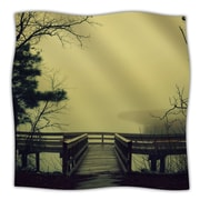 KESS InHouse Fog on The River Throw Blanket; 80'' L x 60'' W