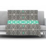 KESS InHouse Going by Pom Graphic Design Fleece Throw Blanket